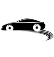Fast moving car with tire shapes vector image vector image