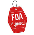 fda approved label or price tag vector image vector image
