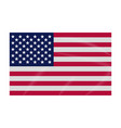 flag icon usa colored flag vector image