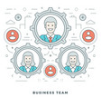 flat line business concept vector image vector image