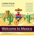 flat welcome to mexico poster vector image