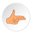 Gesture index and middle finger together icon vector image