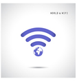 Globe shape and wifi sign vector image vector image