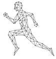 Graphic man running vector image
