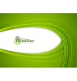 Green abstract smooth corporate waves background vector image vector image