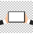 Hands Holing Tablet vector image