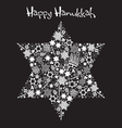 happy hanukkah star of david vector image vector image