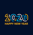 happy new year 2020 template design vector image vector image