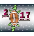 happy new year and football vector image vector image