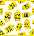 hot deal hang tag seamless pattern background vector image