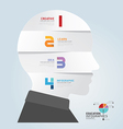infographic Template with Head paper cut banner vector image vector image