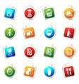 job icons set vector image vector image