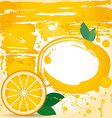 juice fruit drops liquid orange element design vector image vector image