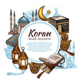 koran holy book islam religion symbols vector image vector image