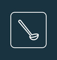 ladle icon line symbol premium quality isolated vector image