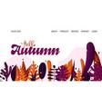 landing page - hello autumn for school autumn vector image vector image