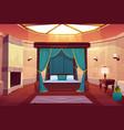 luxury hotel bedroom cartoon interior vector image vector image