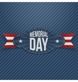 Memorial Day paper Badge with Text vector image