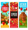 mexican fiesta symbols cinco de mayo holiday vector image vector image