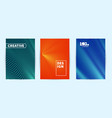 modern covers design ultra line gradients vector image vector image