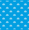 modern wash service pattern seamless blue vector image vector image
