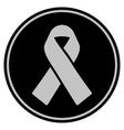mourning ribbon black coin vector image vector image