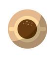 mug coffee symbol vector image vector image