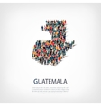 people map country Guatemala vector image