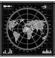 Radar screen Black and white vector image