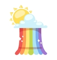 Rainbow icon isolated vector image