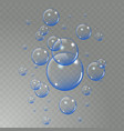 realistic soap bubbles set isolated on the light vector image vector image