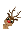 Reindeer with red nose vector image vector image
