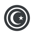 Round black Turkey symbol sign vector image vector image