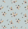 seamless pale blue flower pattern vector image vector image