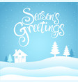 seasons greetings text vector image vector image