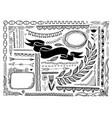 set sketch doodle frame banner line page vector image