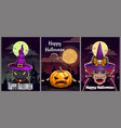 set three scary halloween posters halloween vector image