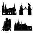 silhouette of prague vector image