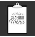 slogan object clipboard seafood menu vector image vector image