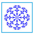 snowflake sign 2510 vector image vector image