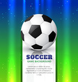 soccer football design vector image vector image