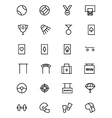Sports Outline Icons 5 vector image vector image