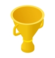 Trophy cup isometric 3d icon vector image