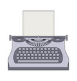 typewriter machine journalist equipment vintage vector image