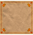 Ukrainian floral ornament on vintage paper backgr vector image vector image