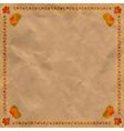 Ukrainian floral ornament on vintage paper backgr vector image