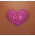 Valentines Day pink Heart with Shadows vector image