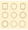 Vintage style emblems frames set vector image