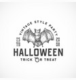 vintage style party halloween logo or label vector image vector image