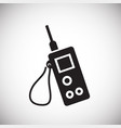 walkie talkie icon on white background for graphic vector image vector image